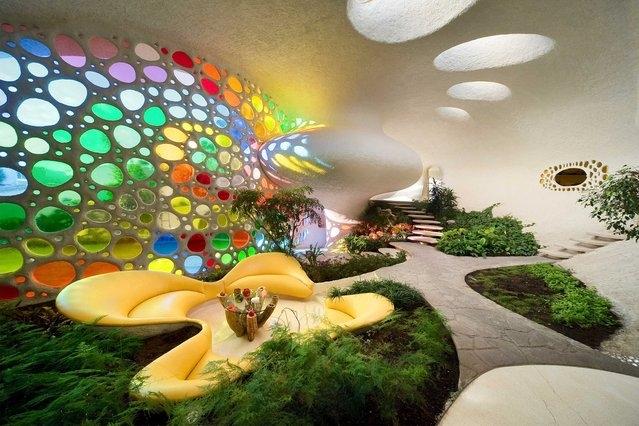 خانه صدفی بی نظیر در مکزیکو سیتی