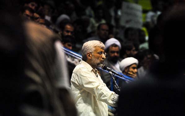 جلیلی: تازه کار ما شروع شده است/تقاضا از حامیانم برای کمک به آقای روحانی تعارف نبود