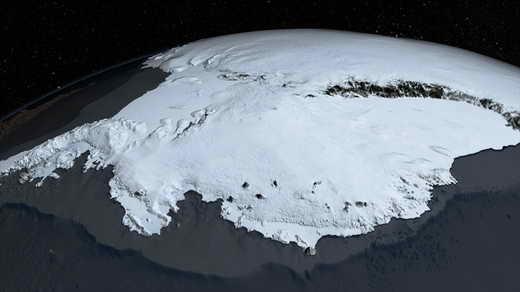قطب جنوب بدون یخ چه شکلی است؟
