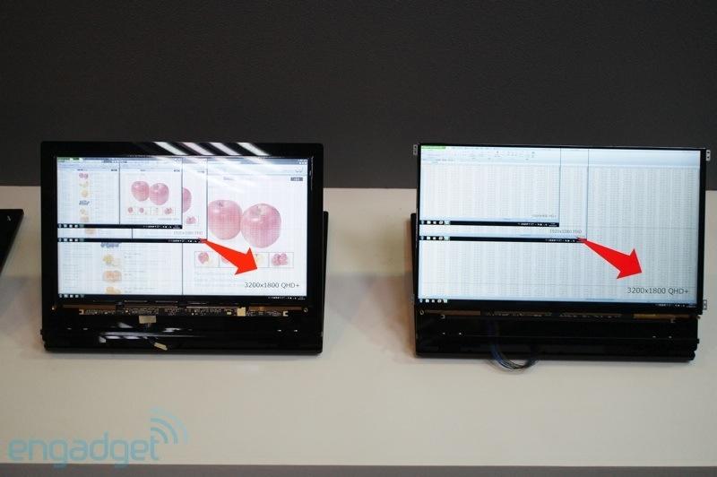 نمایش پنل ایگزوی 3200 در 1800 پیکسلی 14 و  15.6 اینچی
