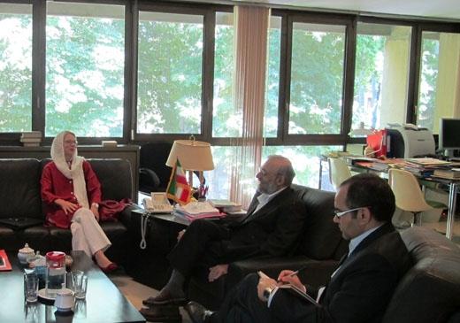 جوادلاریجانی به سفیر سوئیس: روحانی درجهت کاهش تنش گام بر می دارد/آمریکا مواضع خصمانه اش را تعدیل کند