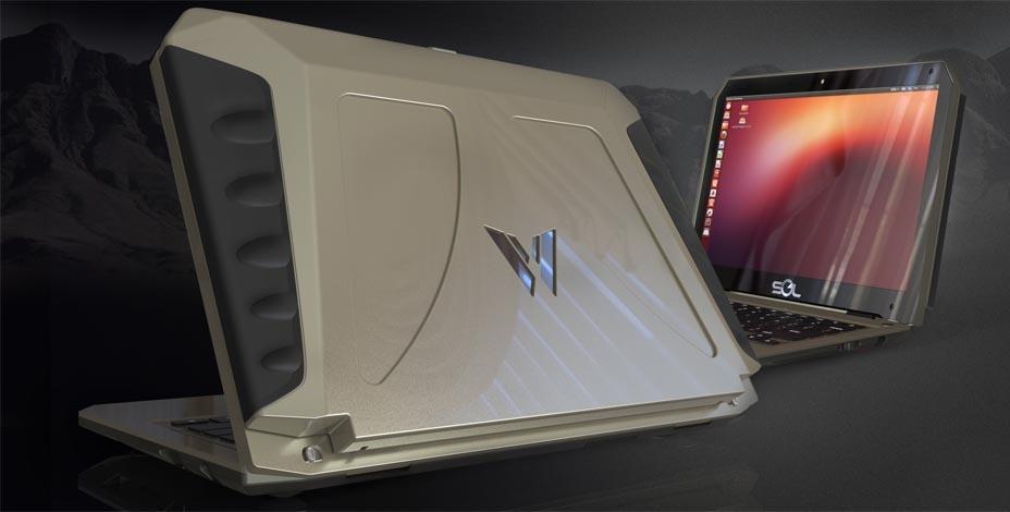 لپ تاپ300 دلاری که با انرژی خورشیدی وسط بیابان 10 ساعت اینترنت ماهواره ای می دهد