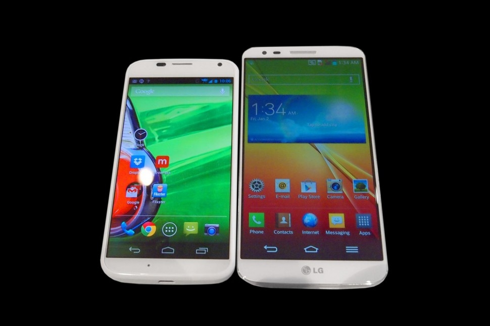 """مقایسه فنی دو گوشی هوشمند جدید """"ال جی G2 """" و """"موتو ایکس"""" با گلکسی اس 4 و اچ تی سی وان"""