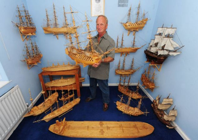 این کشتی ها از 5 میلیون چوب کبریت ساخته شده اند