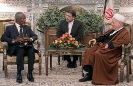 کوفی عنان,ایران و سوریه,اکبر هاشمی رفسنجانی