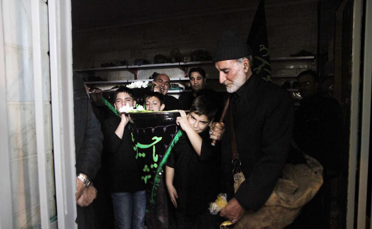 مراسم تشت گذاری در زنجان