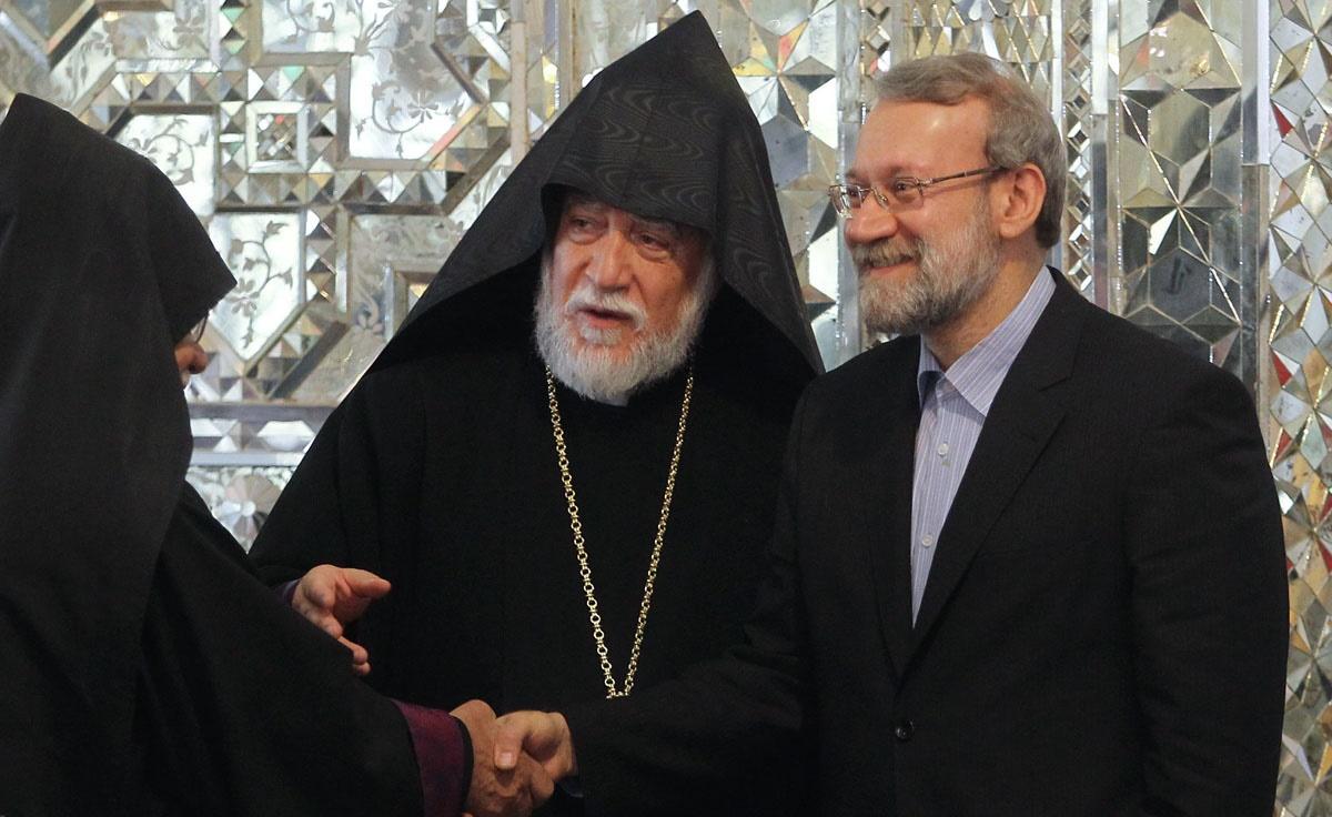 دیدار پیشوای دینی ارامنه جهان با رییس مجلس شورای اسلامی