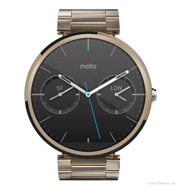 تصاویری از ساعت هوشمند موتو360 طلاییرنگ که روی آمازون برای ساعاتی آمدورفت