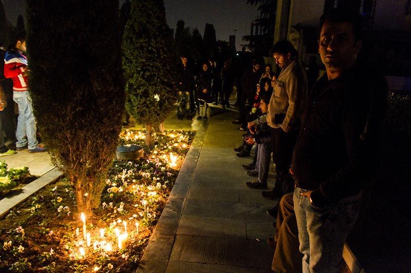 طرفداران مرتضی پاشایی در پارک آب و آتش تهران