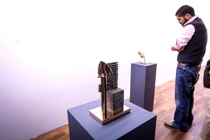 شهرام ناظری در افتتاحیه نمایشگاه آثار پرویز تناولی