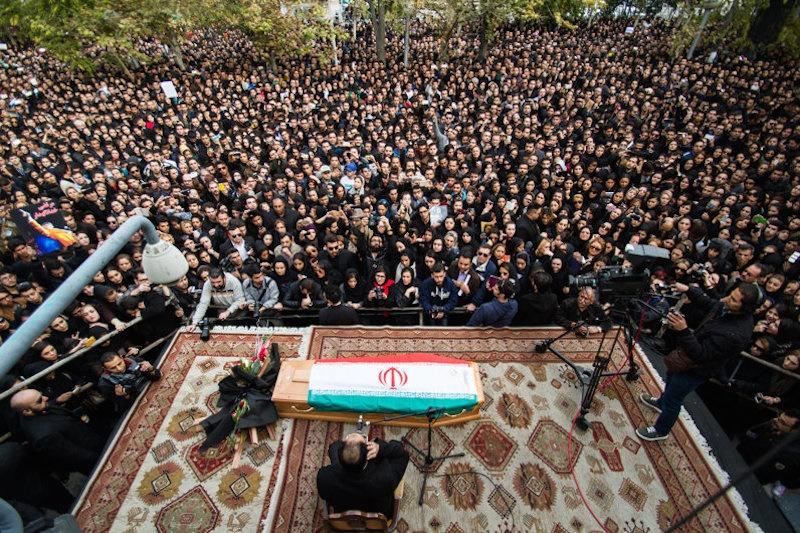 نخستین عکسها از مراسم تشییع پیکر مرتضی پاشایی