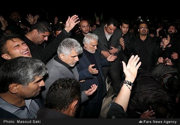 تدفین شبانه پیکر مرحوم مرتضی پاشایی