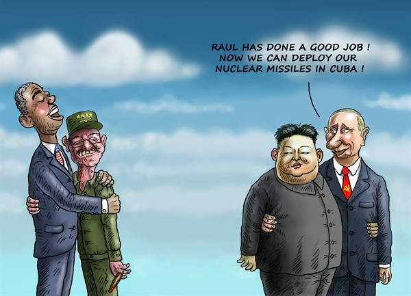 رائول و باراک سوژه کاریکاتوریستها شدند