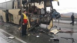 تصادف دو اتوبوس 3قربانی گرفت/ 8کشته و 62مجروح در9 تصادف