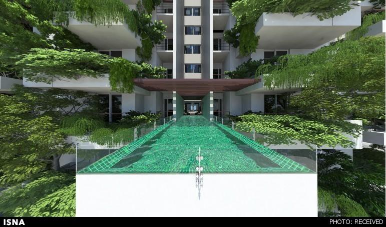 بزرگترین باغ عمودی مسکونی جهان