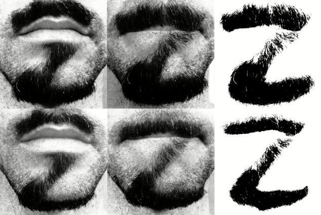 خلاقیت شگفت انگیز طراح نیویورکی را تماشا کنید:حروف الفبا روی صورت
