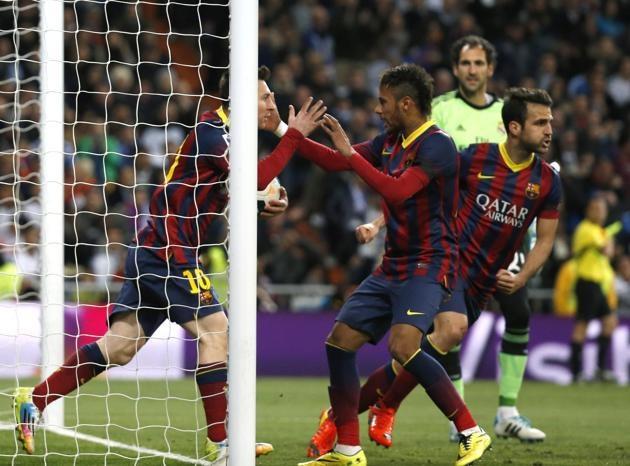 تصاویری از شکست رئال در مادرید برابر بارسا