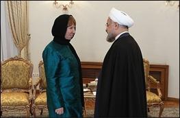 مذاکرات هسته ایران با 5 بعلاوه 1,کاترین اشتون,حسن روحانی