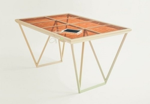 این میز در فرآیندی شبیه به فتوسنتز، برق تولید میکند و دو خروجی USB دارد