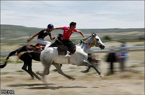 یکه سواران ایرانی در دشتهای خراسان شمالی