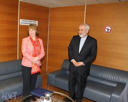 مذاکرات هسته ایران با 5 بعلاوه 1,محمدجواد ظریف,کاترین اشتون