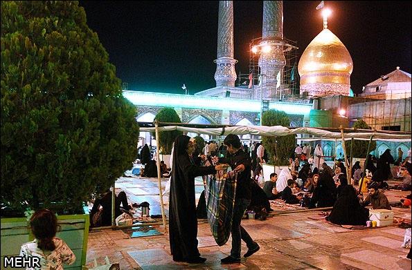 شب آرزوها در حرم حضرت عبدالعظیم(ع)
