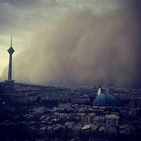 عکس طوفان تهران طوفان دوشنبه تهران طوفان تهران