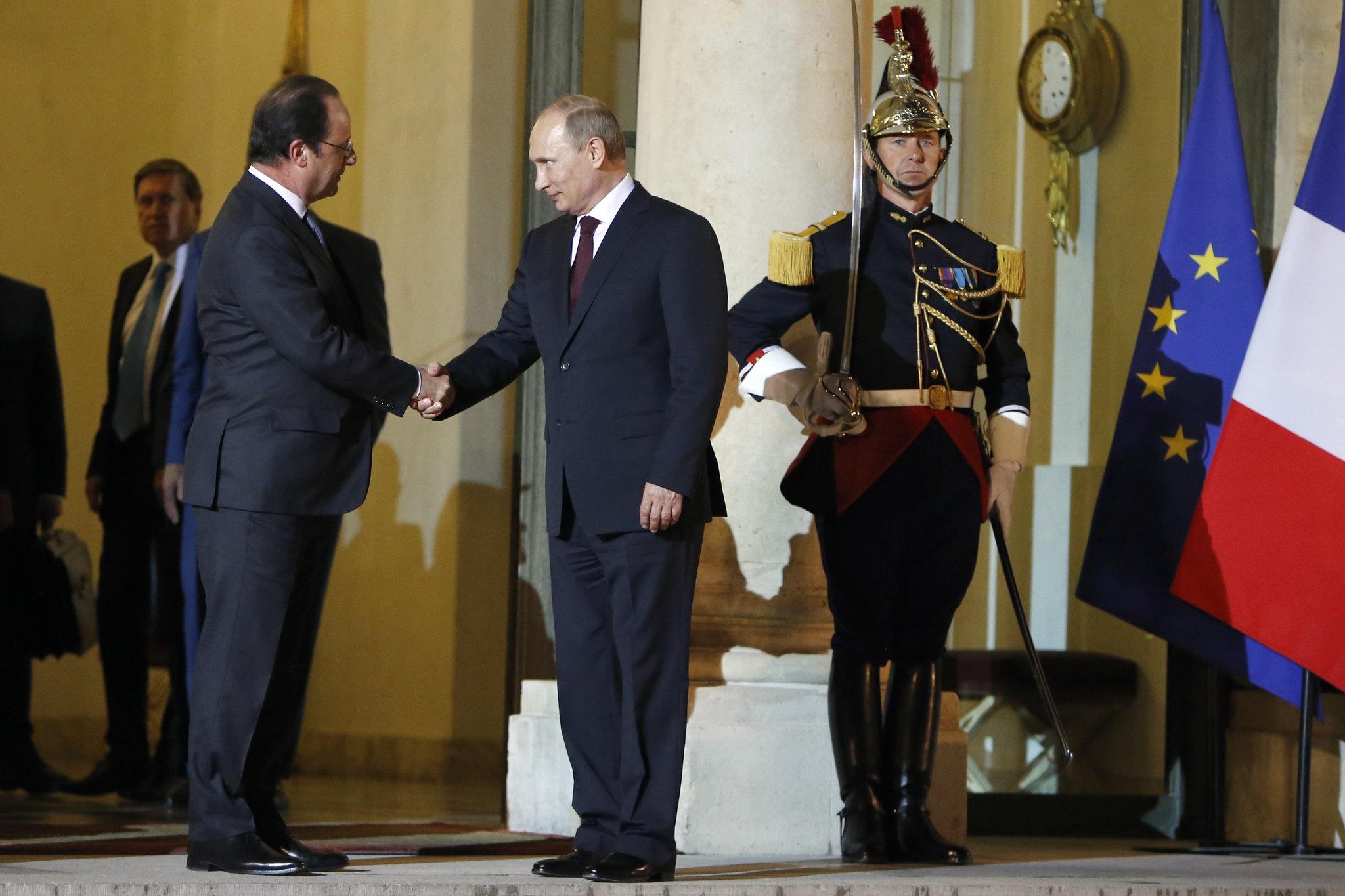 فرانسوا اولاند,باراک اوباما,ولادیمیر پوتین