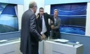 درگیری فیزیکی دو کارشناس در برنامه زنده تلویزیون اردن