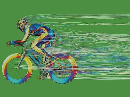 رنگیترین تصویر دنیای مهندسی از یک دوچرخهسوار
