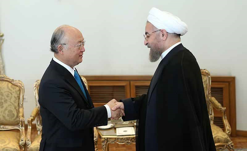 اظهارات صریح رئیس جمهور در دیدار با آمانو : فقط نظارت های قانونی آژانس اتمی را می پذیریم