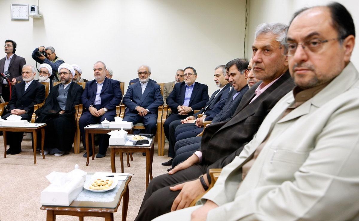 دیدار رییس جمهور و اعضای هیات دولت با رهبر معظم انقلاب اسلامی