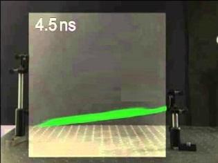 نخستین فیلم تاریخ از برخورد ذرات نور با آینه