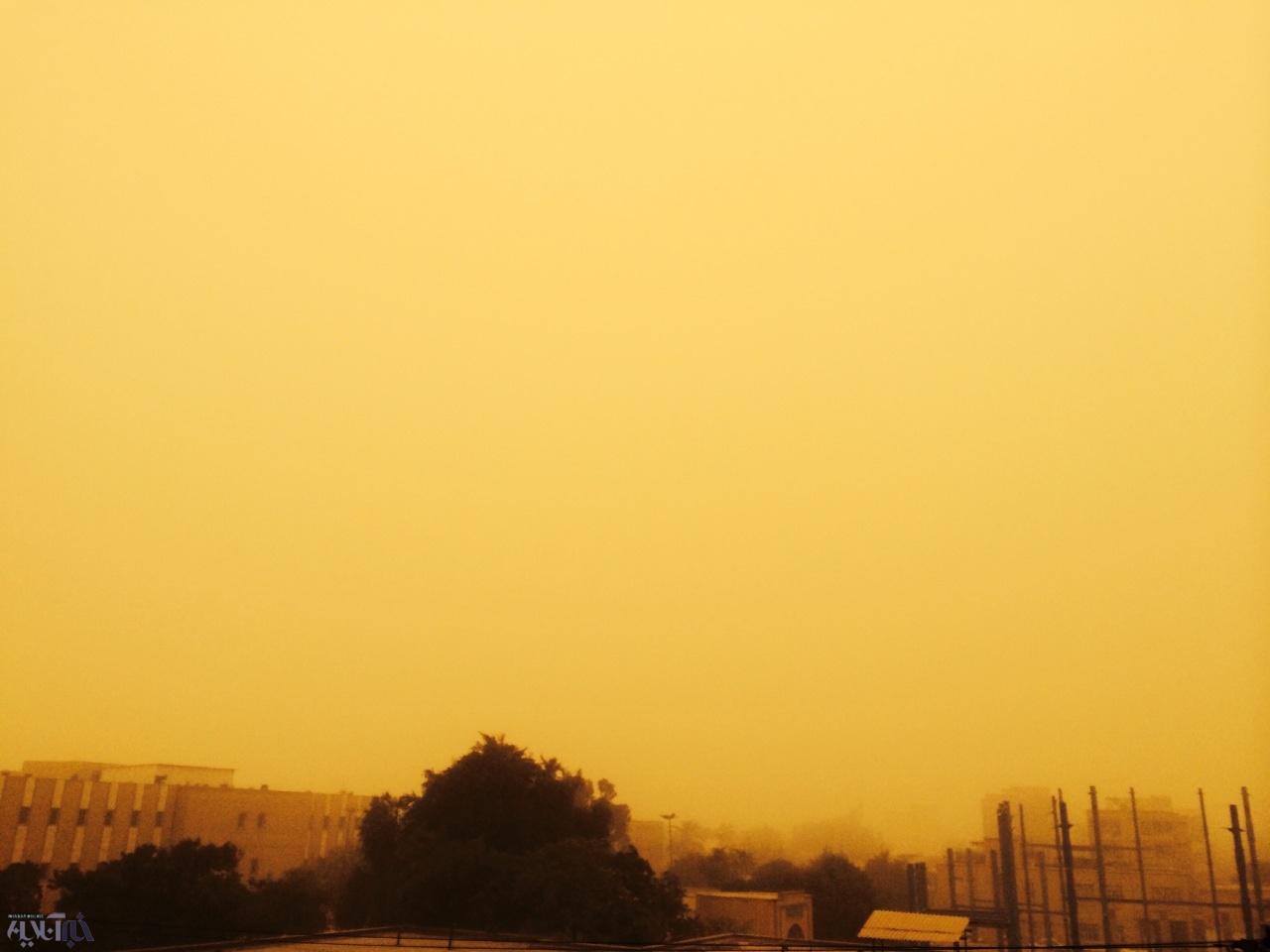 آسمان خاک گرفته اهواز، همین امروز