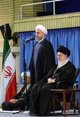 حسن روحانی,آیتالله خامنهای رهبر معظم انقلاب