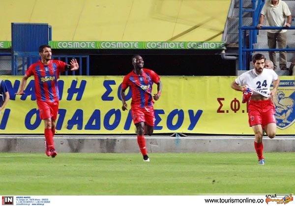 عکسی که سایت باشگاه پانیونیوس یونان بعد از درخشش انصاری فرد منتشر کرد