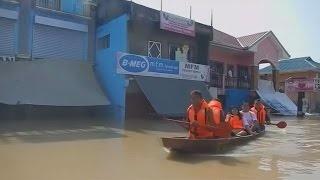 مناظر جالب بر اثر بارندگی در فیلیپین