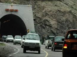 نصب تابلوکنترل ترافیک در ورودی ها و داخل تونلها در جاده چالوس