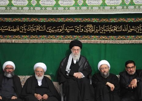پنجمین شب مراسم عزاداری حضرت اباعبدالله الحسین(ع) در حضور رهبر معظم انقلاب
