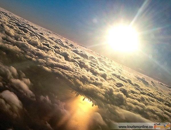 بهترین عکس های ثبت شده توسط مسافران هواپیماها از فراز آسمان