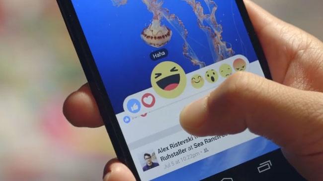 اضافه شدن دکمههای شادی،خنده و خشم به فیسبوک