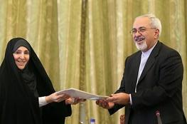 مرضیه افخم,محمدجواد ظریف,سخنگوی وزارت امور خارجه