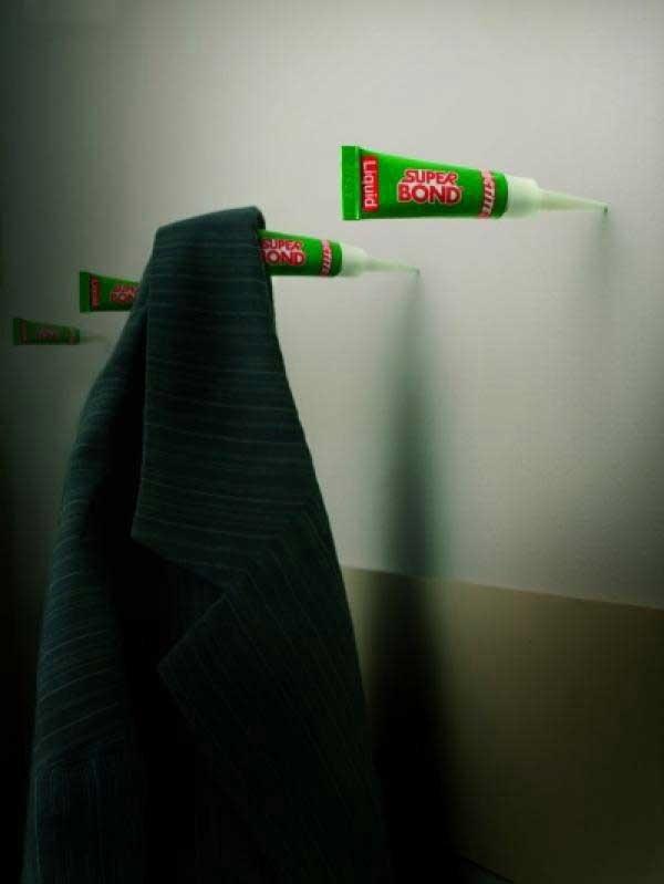 تبلیغ خلاقانه چسب قطرهای/ عکس