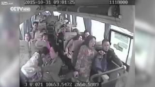 تصاویر تکان دهنده از داخل اتوبوسی که به دره سقوط کرد