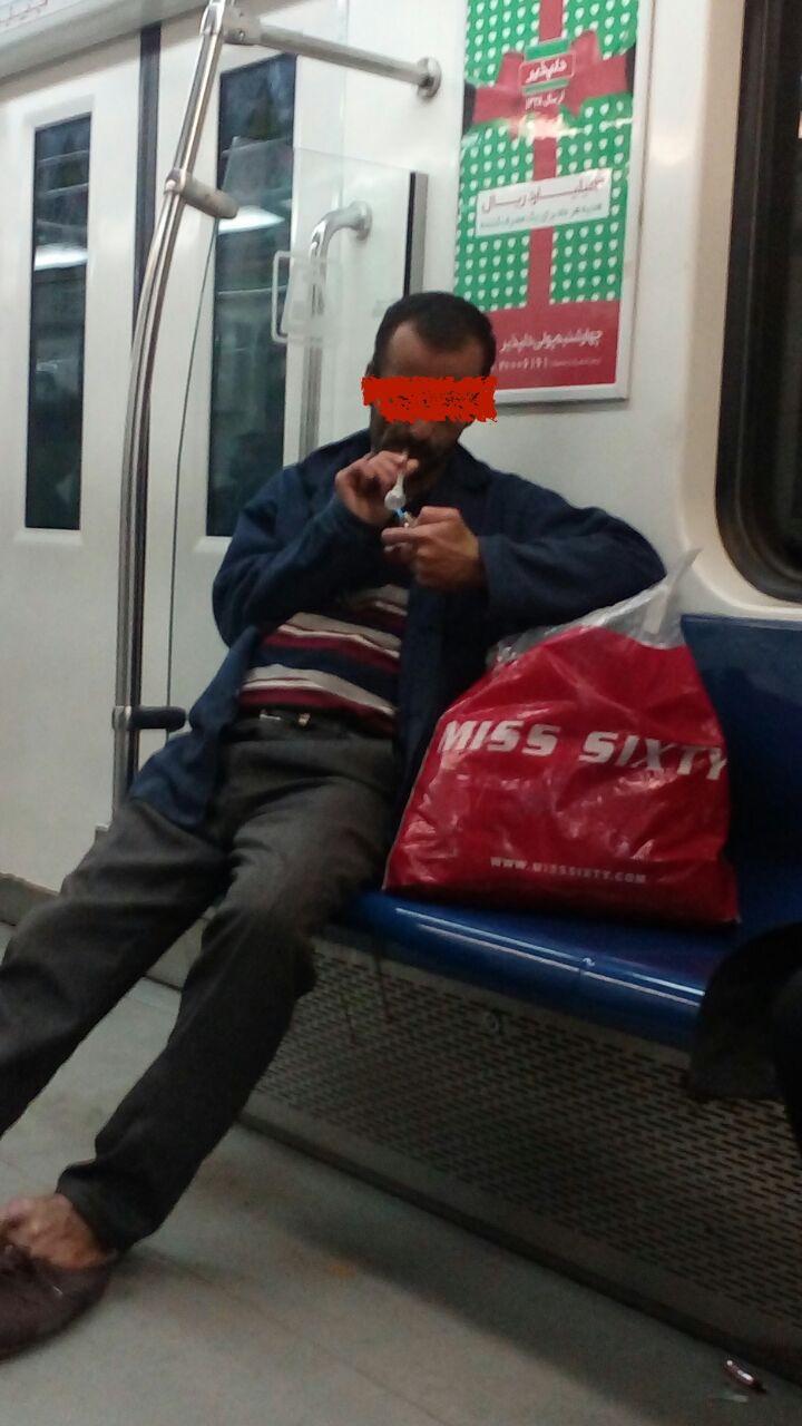 واکنش شرکت مترو به تصاویر مصرف موادمخدر درمترو