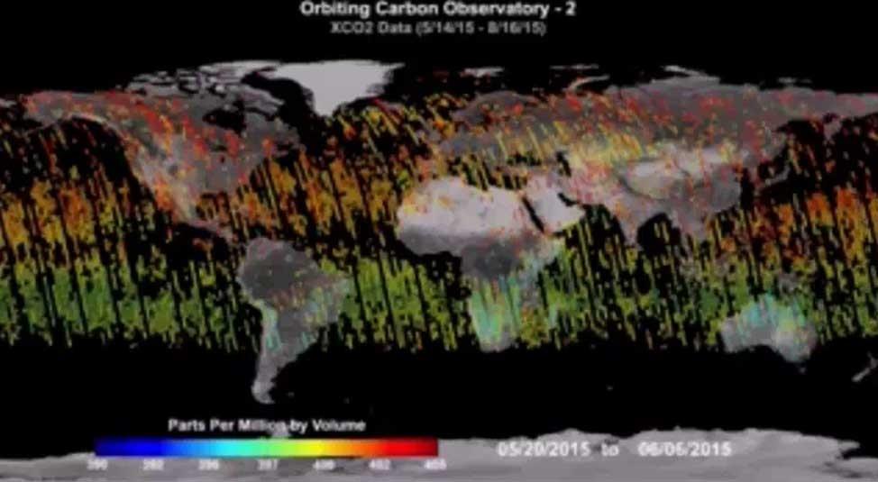 دی اکسید کربن چگونه در فضا منتشر می شود؟