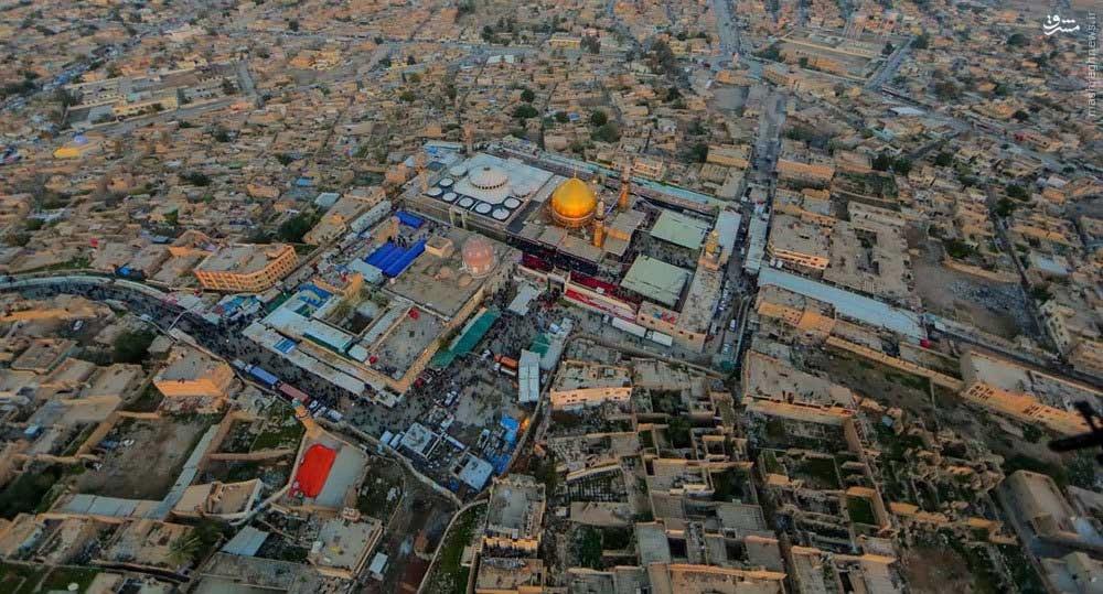 تصاویر هوایی از حرم امامین عسکرین (ع) در سامرا
