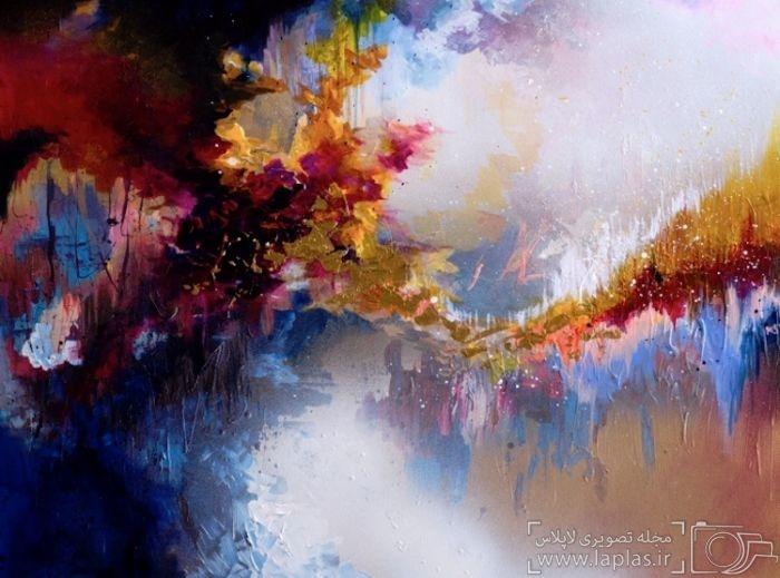 آثار هنرمندی که موسیقی را میبیند و نقاشی میکند