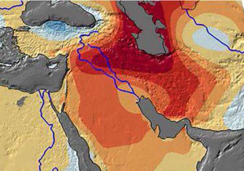 میزان آبهای شیرین از درست رفته ایران را ببینید/نقشه ناسا
