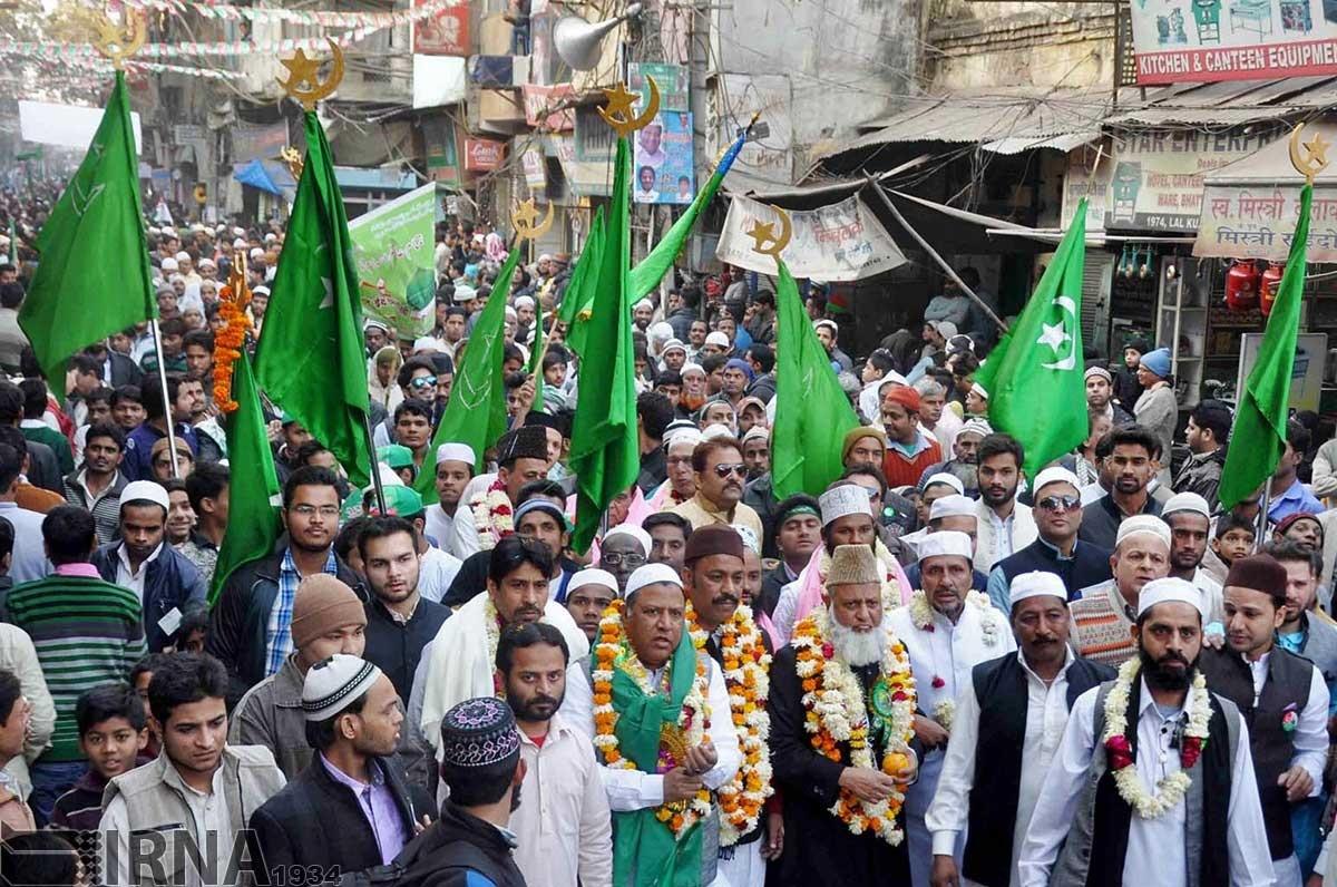 برگزاری جشن های میلاد پیامبر رحمت در هندوستان